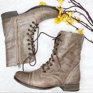 STEVE MADDEN | 8.5 Troopa Combat Boots Gray